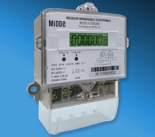 Medidor Electrónico Monofásico Midde